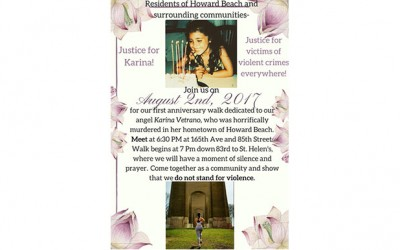 Vetrano Family to Host First-Anniversary  Memorial Walk for Karina