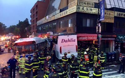 Flushing Bus Crash Leaves Three Dead, 17 Injured