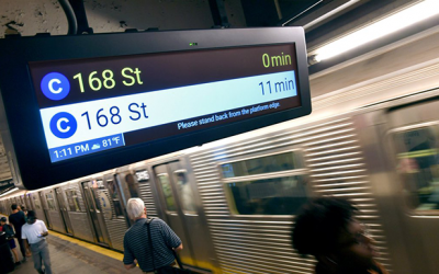Countdown Clocks  Go Live on the M and W Subway Lines