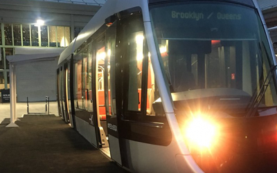 Brooklyn Queens Connector Streetcar Unveiled