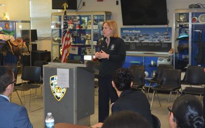 Katz Welcomes New Class of South Queens Cops