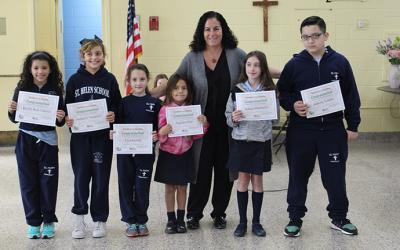 Assemblywoman Presents  Summer Reading Awards to St. Helen Students