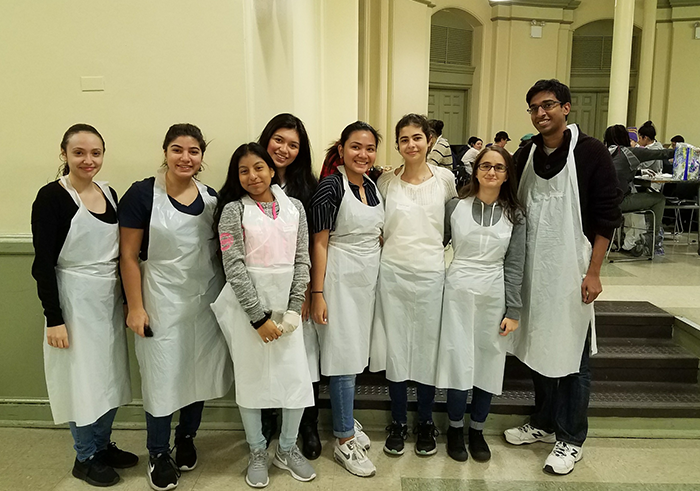 Queens Metro HS Students Volunteer  at City's Largest Soup Kitchen