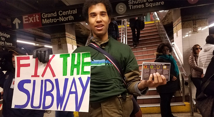 Advocacy Group Distributes  'Subway Delay Action Kits' to Commuters