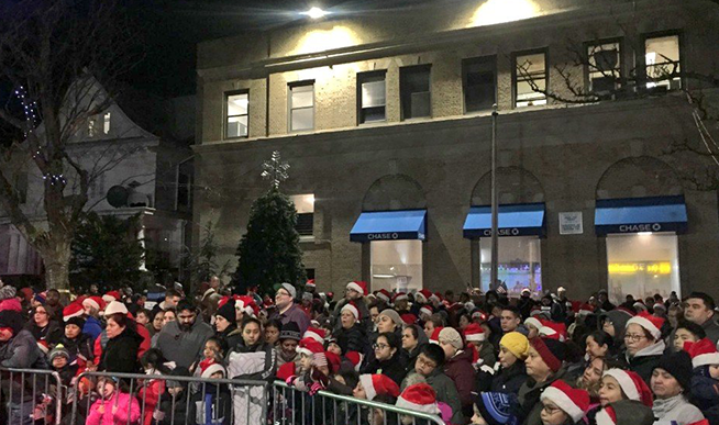 Woodhaven Celebrates with Christmas Tree and Menorah Lighting