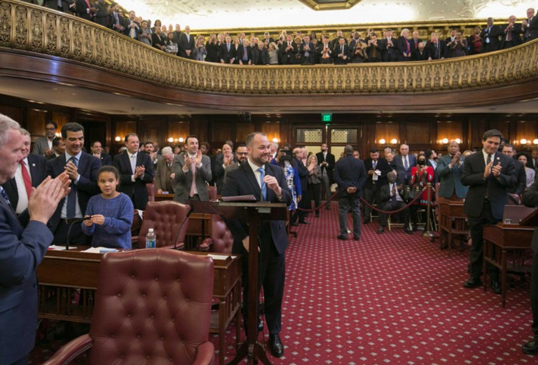 Corey Johnson Delivers First Speech  as City Council Speaker