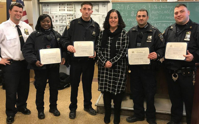 Area Officers  Honored for Bravery