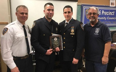 106 Cop of the Month Nabs Suspected Shooter