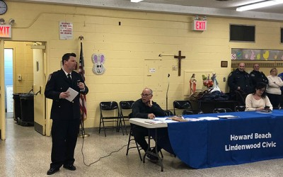 Public Safety Theme at Latest  Howard Beach-Lindenwood Civic Meeting