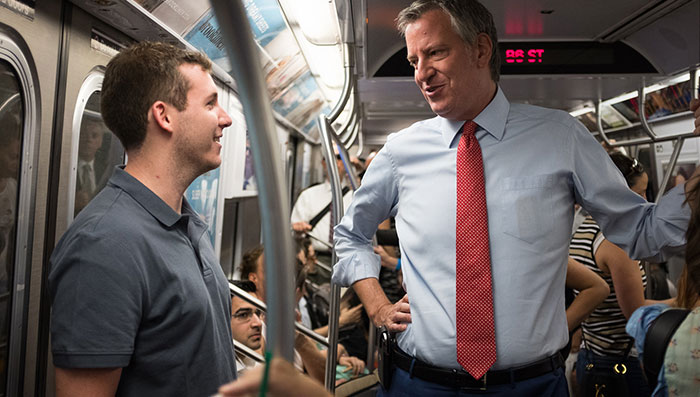De Blasio Relents, Says City will Provide $418M  for Emergency Subway Plan