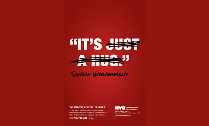 City Launches Ad Campaign to Encourage  the Reporting of Sex Harassment in the Workplace