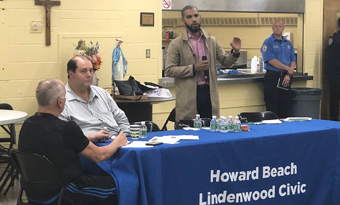 Officials Answer Questions about Lindenwood  Roundabout, Spring Creek Resiliency Projects  at Civic Meeting