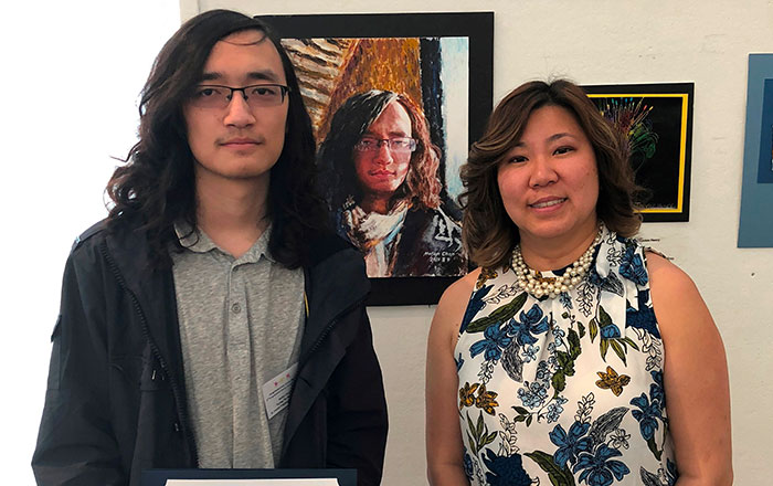 St. Francis Prep Senior Wins Congressional Art  Contest