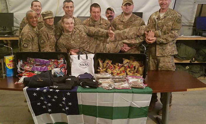 Cop in Iraq Receives NYPD Care Pack