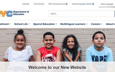 City Department of Education Touts  Redesigned Website