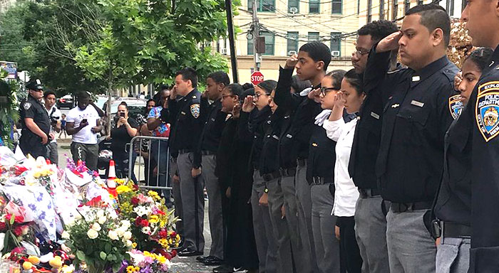 106th Pct. Explorers Pay Respect to Lesandro