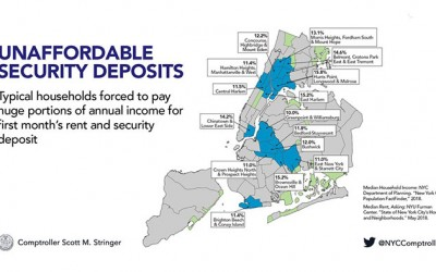 High Cost of Security Deposits Burden Working New Yorkers and Fuel Affordable Housing Crisis: Stringer