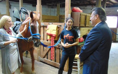 Addabbo Pledges to Help  Horse-Riding Group Reach out to More Veterans