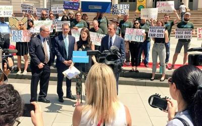 Coalition Calls on Mayor to Adopt  'Fast Bus, Fair City' Plan