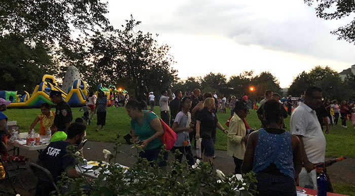 Cop-Community Partnership Shines at Rain-Shortened National Night Out Against Crime