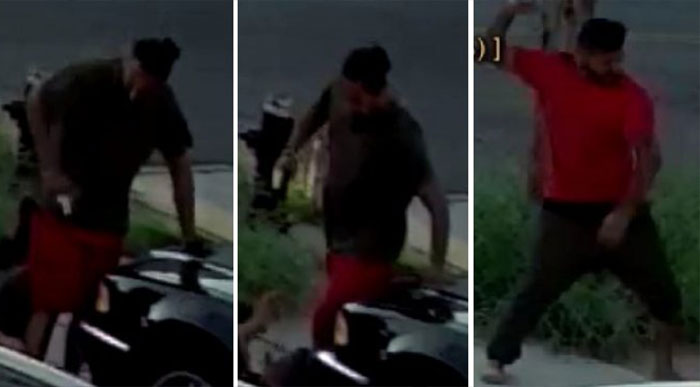 Trio Sought for Sword,  Bat Attack
