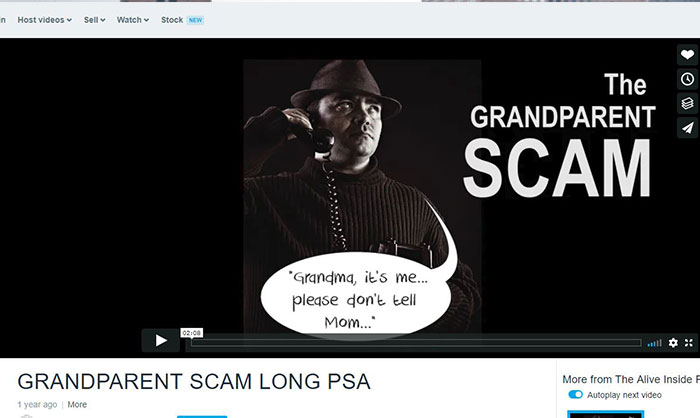 Seniors Warned about Phone Scams  Targeting 'Grandparents'