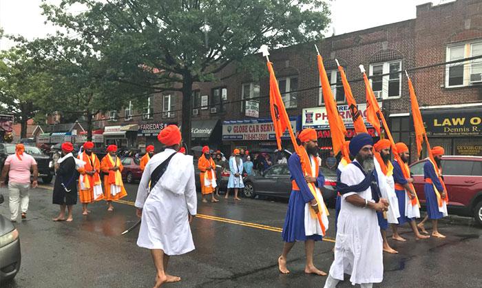 Sikhs Celebrate in  Richmond Hill