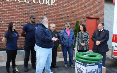 Pols Donate Flood Tools to  Hamilton Beach Fire Department