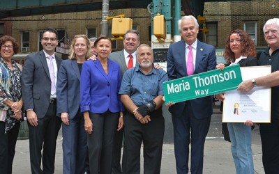 Woodhaven Wonder Woman Maria Thomson Honored at Street Co-Naming Ceremony