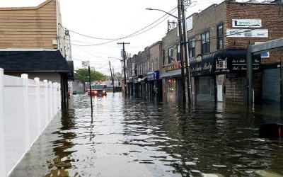Nor'easter Floods Cripple Howard Beach Streets
