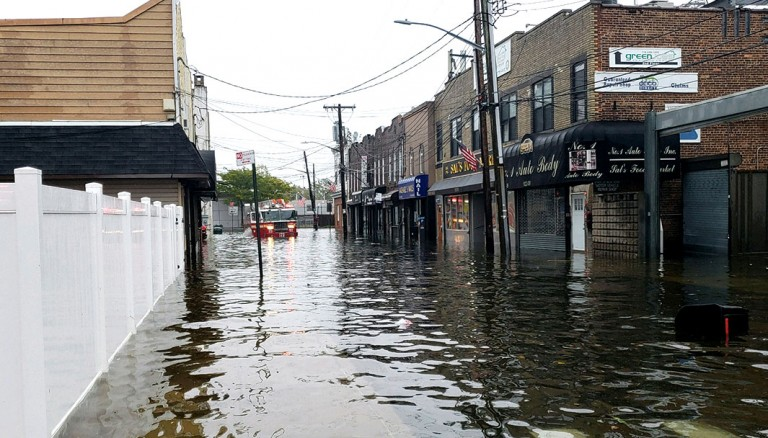 Nor'easter Floods Cripple Howard Beach Streets