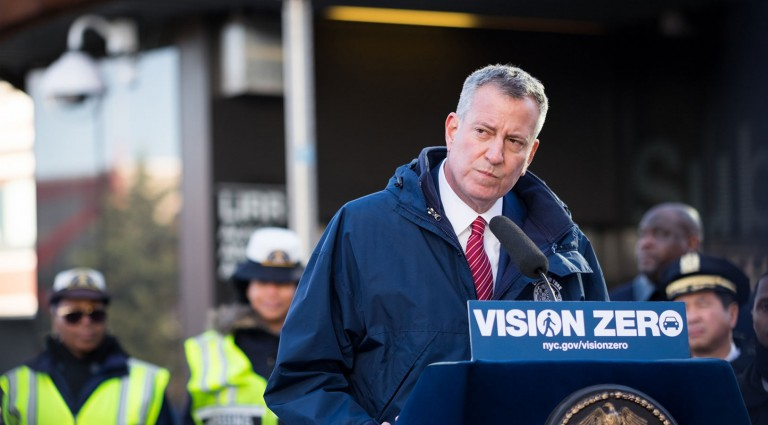 Mayor Announces Vision Zero Campaigns