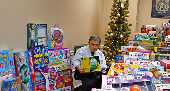 DA Brown Touts Toy Drive Results