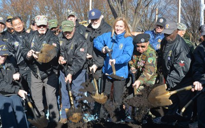 Borough Breaks Ground on Vietnam Vets Memorial