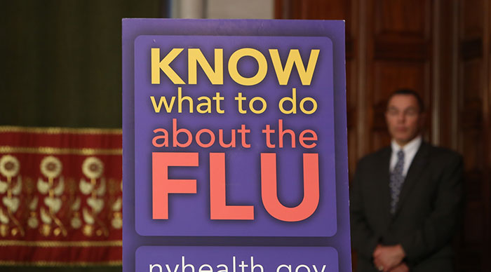 Cuomo Concerned about Sharp Rise in NY Flu Cases