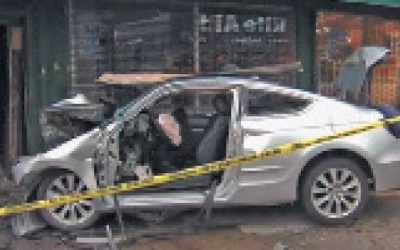 Three Hurt as Car Slams into Furniture Store