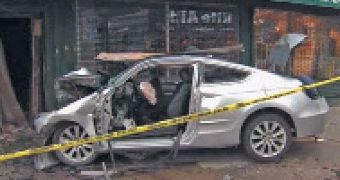 Three Hurt as Car Slams into Furniture Store