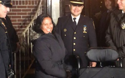 Cops Return Stolen  Wheelchair to  Jackson Heights Woman