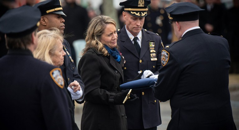 Grateful City Bids Farewell to Hero 102nd Precinct Cop