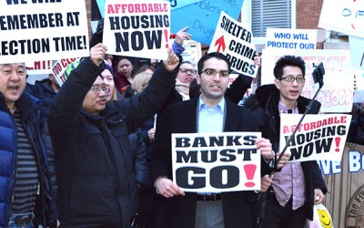 Ulrich Calls for Banks to Quit at Rally outside  DHS Commissioner's Brooklyn Home