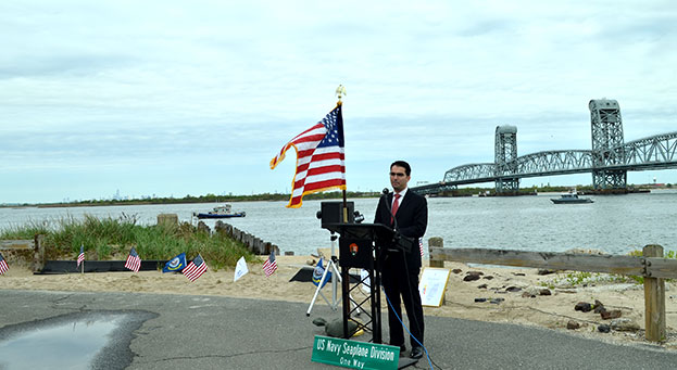 Ulrich Hosts Commemorative Ceremony  in Rockaway 100 Years after First Transatlantic Flight