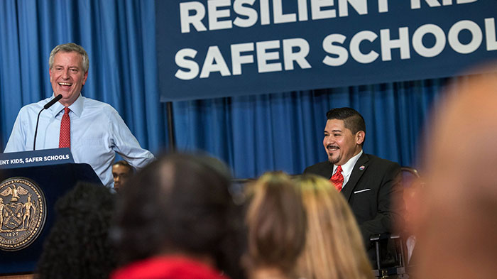 De Blasio Administration Touts Overhaul  of School Disciplinary Procedures
