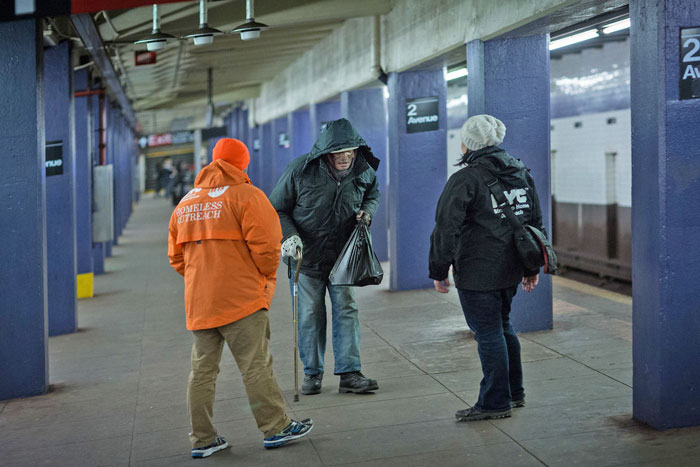 City to Enhance Subway Homeless Outreach