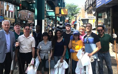 Community Cares: Woodhaven Comes out to Combat Litter, Graffiti on Jamaica Avenue