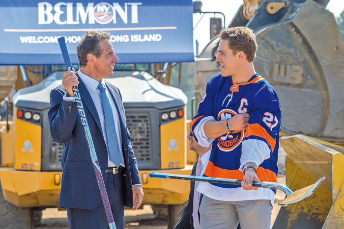 Isles, Pols Break Ground on Belmont