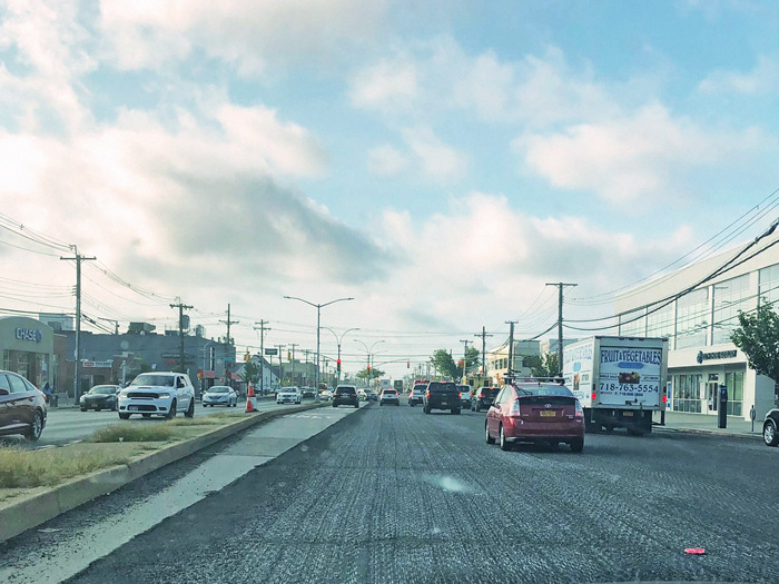 Forum Photo by Michael V. Cusenza Cross Bay Boulevard between 156th and 157th avenues Wednesday morning, after DOT crews worked overnight on the Howard Beach thoroughfare.