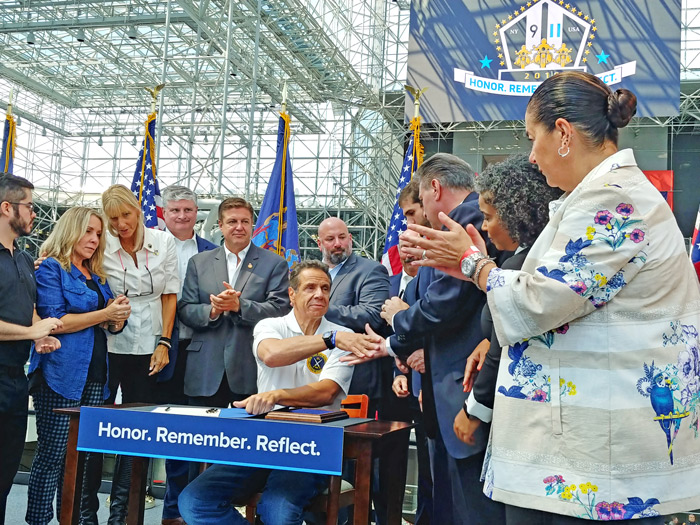 Cuomo Signs Six Sept. 11-related Bills into Law