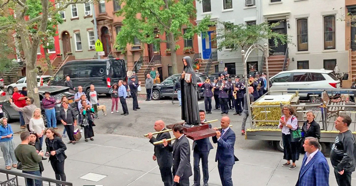 Bishop of Brooklyn Leads Procession,  Mass in Support of Construction of Cabrini Statue