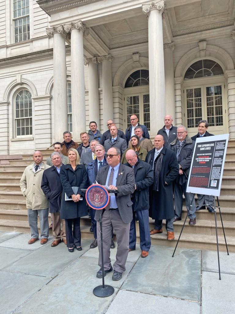 Councilmen Tout Fire Safety Legislation  as Blaze Deaths Soar