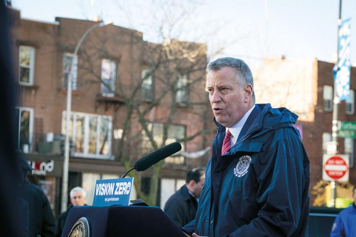 Mayor Touts Return  of Vision Zero Campaign